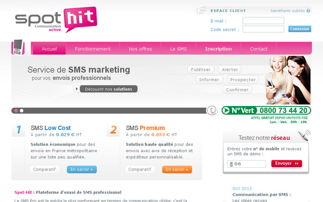 Sms profesionnel