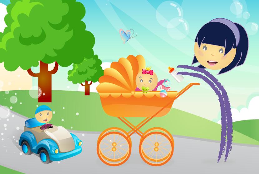 Le service d'une nounou ou d'une baby-sitter